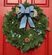 Balsam Blueberry Wreath